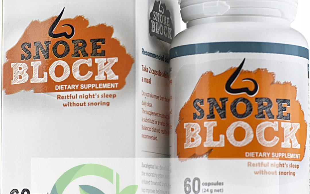 SnoreBlock – tabletki na chrapanie